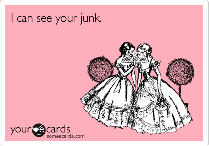 I can see your junk.