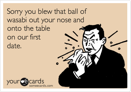 Sorry you blew that ball of