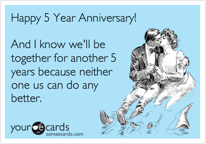 what to do on your 5 year anniversary