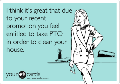 I think it's great that due