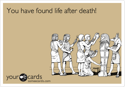 You have found life after death!