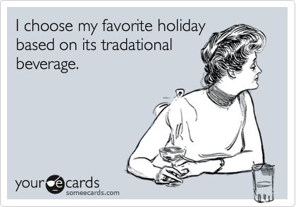 I choose my favorite holiday