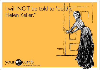 "I will NOT be told to ""do the