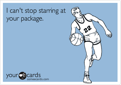 I can't stop starring atyour package.