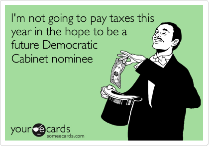 I'm not going to pay taxes this