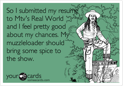 So I submitted my resume