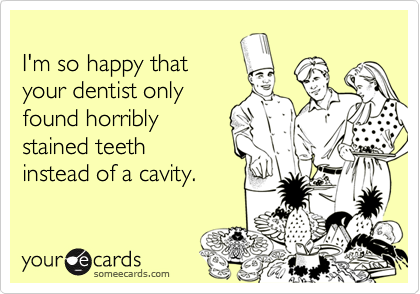 I'm so happy that