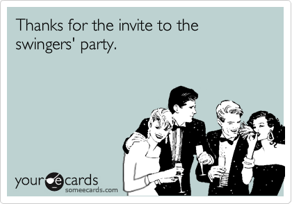 Swingers party invite
