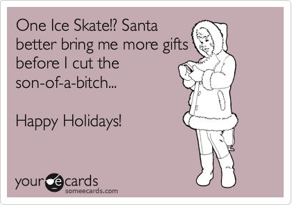 One Ice Skate!? Santa