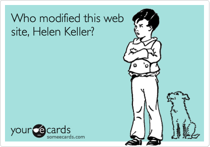 Who modified this web