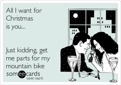 All I want for Christmas is you...   Just kidding, get me parts for my mountain bike