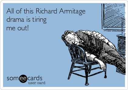 All of this Richard Armitage drama is tiring me out!
