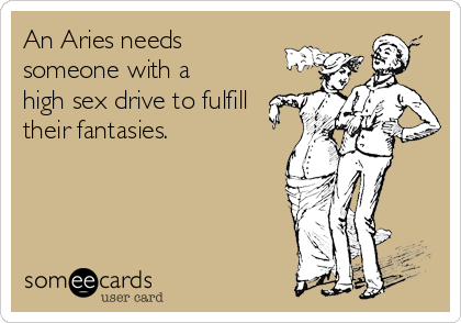 An Aries needs someone with a high sex drive to fulfill their fantasies.
