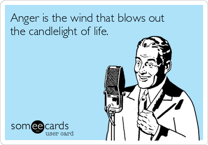 Anger is the wind that blows out the candlelight of life.