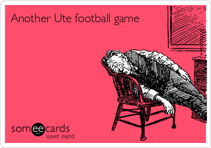 Another Ute football game