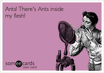 Ants! There's Ants inside my flesh!