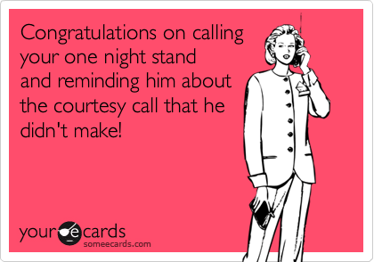 Congratulations on calling