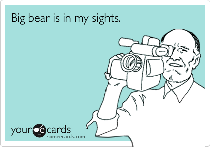 Big bear is in my sights.