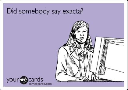 Did somebody say exacta?