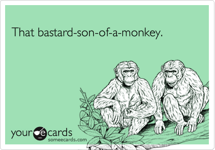 That bastard-son-of-a-monkey.
