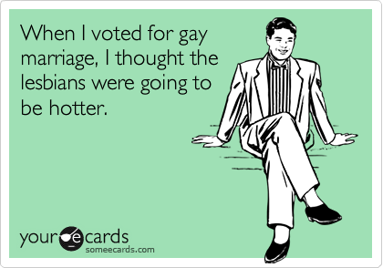 When I voted for gay