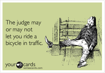 The judge may