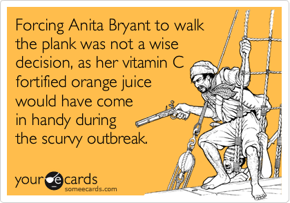 Forcing Anita Bryant to walk