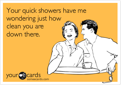 Your quick showers have me wondering just how