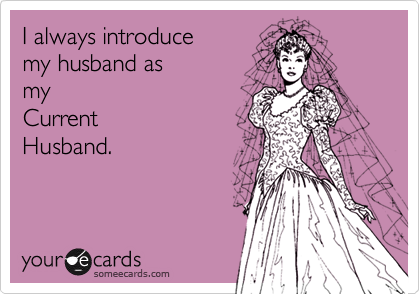 I always introduce
