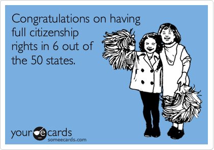 Congratulations on having