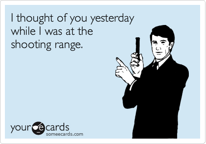 I thought of you yesterday