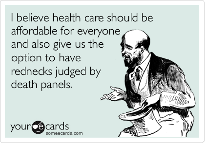 I believe health care should be affordable for everyone 
