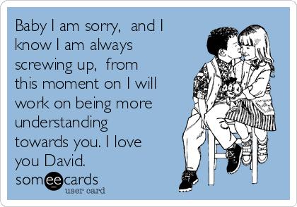 i love you david