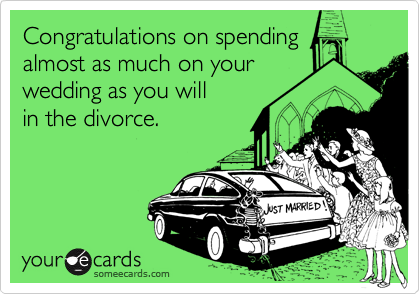 Congratulations on spending