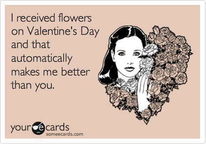 I received flowers