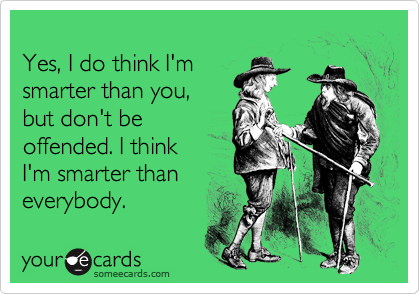 Yes, I do think I'm