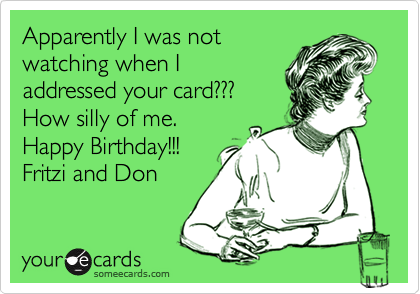Apparently I was not
