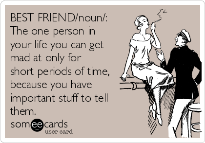 Funny Birthday Meme Best Friend : Best friend noun the one person in your life you can get mad at