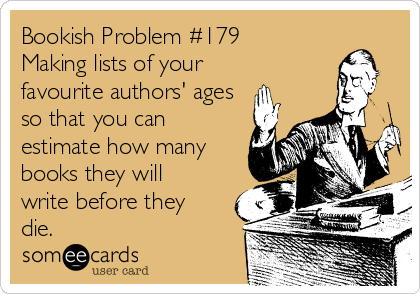 Bookish Problem #179 Making lists of your favourite authors