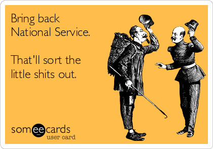 Bring back National Service.  That'll sort the little shits out.