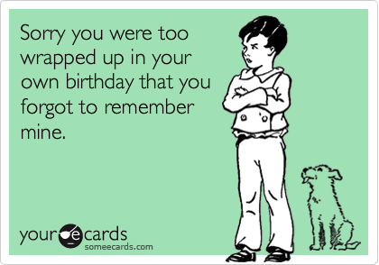 Sorry you were too