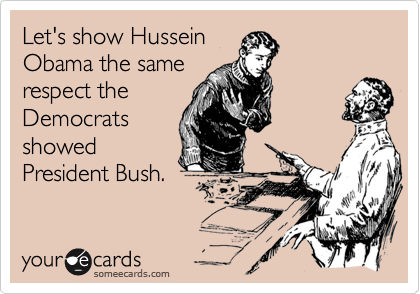 Let's show Hussein