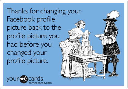Thanks for changing your