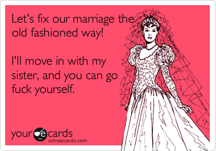 Let's fix our marriage the