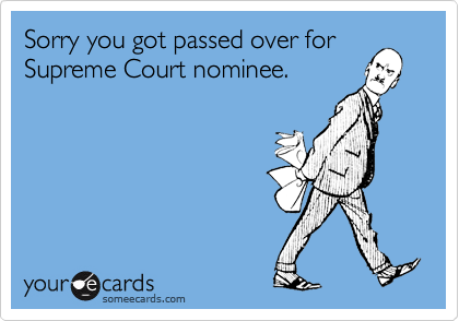 Sorry you got passed over for