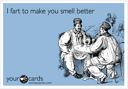 I fart to make you smell better