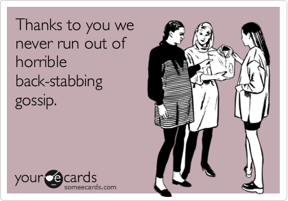 Thanks to you we