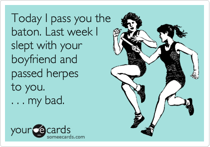 Today I pass you the