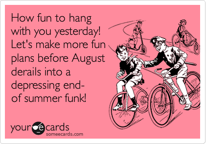How fun to hang