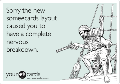 Sorry the new 